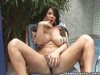 Rubbing cock...