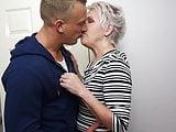 Grandma fucks her young guest