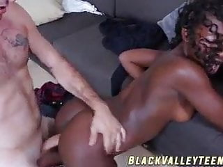 Noemi bilas gets penetrated by condom less white...