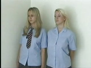 schoolgirls teen spanked Blonde naked