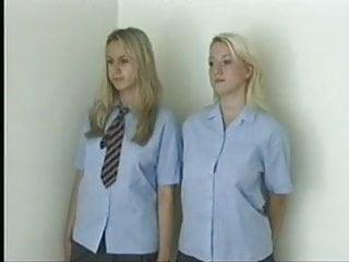 schoolgirls teen spanked Blonde naked