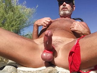 Fun with butt plug beach...
