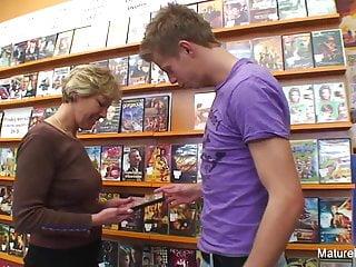 Sexy fucks him video store...
