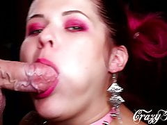 BLOWJOB CLOSE-UP, THROBBING AND PULSATING ORAL CREAMPIE