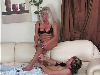 Sand pantyhose of lustful 51 year old grandma...