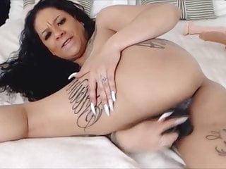 orgazm gets cunt ebony mommy creamy fucking juicy