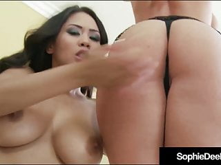 Busty Brit Sophie Dee Bangs a Little Oriental Orifice!