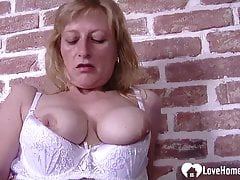 sexy blonde susanne smokes and masturbates passionately   Porn Videos