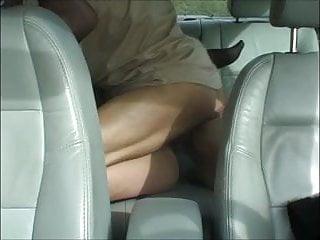 Amateur mature couple car fun...