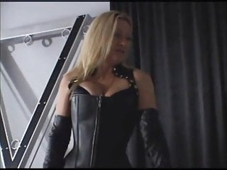Blonde mistress caning