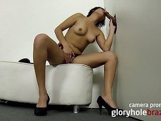 Girl sucking in the gloryhole...
