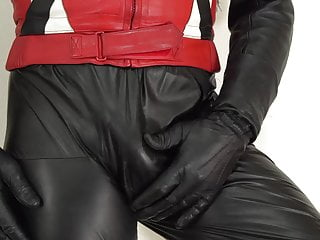 Leather catsuit and ixs...