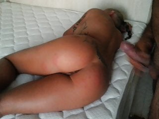 another guy cumming over housewifes ass