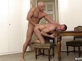 Brutal gay boyfriend fucking him from behind