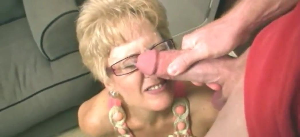 Young Couple Granny Threesome