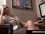 Working Woman Julia Ann Sucks Her Office Mate's Hard Cock!