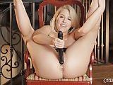 Zoey Monroe Plays with a Big Black Dildo