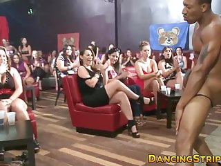 Amateurs having a blast at stripper party...