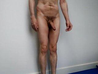 Nude yoga tree pose...