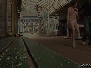 Japanese brunette, Aya got a hot cumshot, uncensored