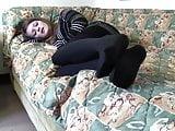 Sasha blue flats black pantyhose shoeplay full vid