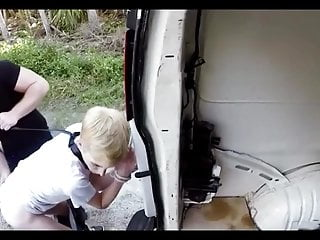 Hitchhiking blonde boy bound fucked and abused by older guy