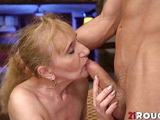 Busty Nanny gets drilled doggystyle after blowing young cock