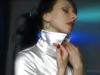 Satin Blouse Collar Up Play