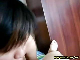 亞洲業餘的女朋友很爛和獲取搞砸與射液