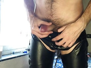 Wolf in leather pants