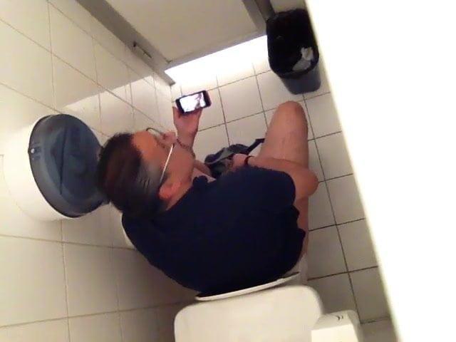 Jerking Off Bathroom Caught