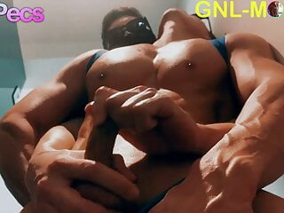 Handsome Athletica asian guy getting nipple played big pecs!