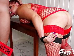 Exclusive Face Fucking & Hard Flogging Of Sexy Russian Slut