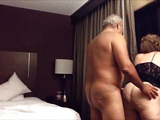 Old wife fucked from behind in the hotel...