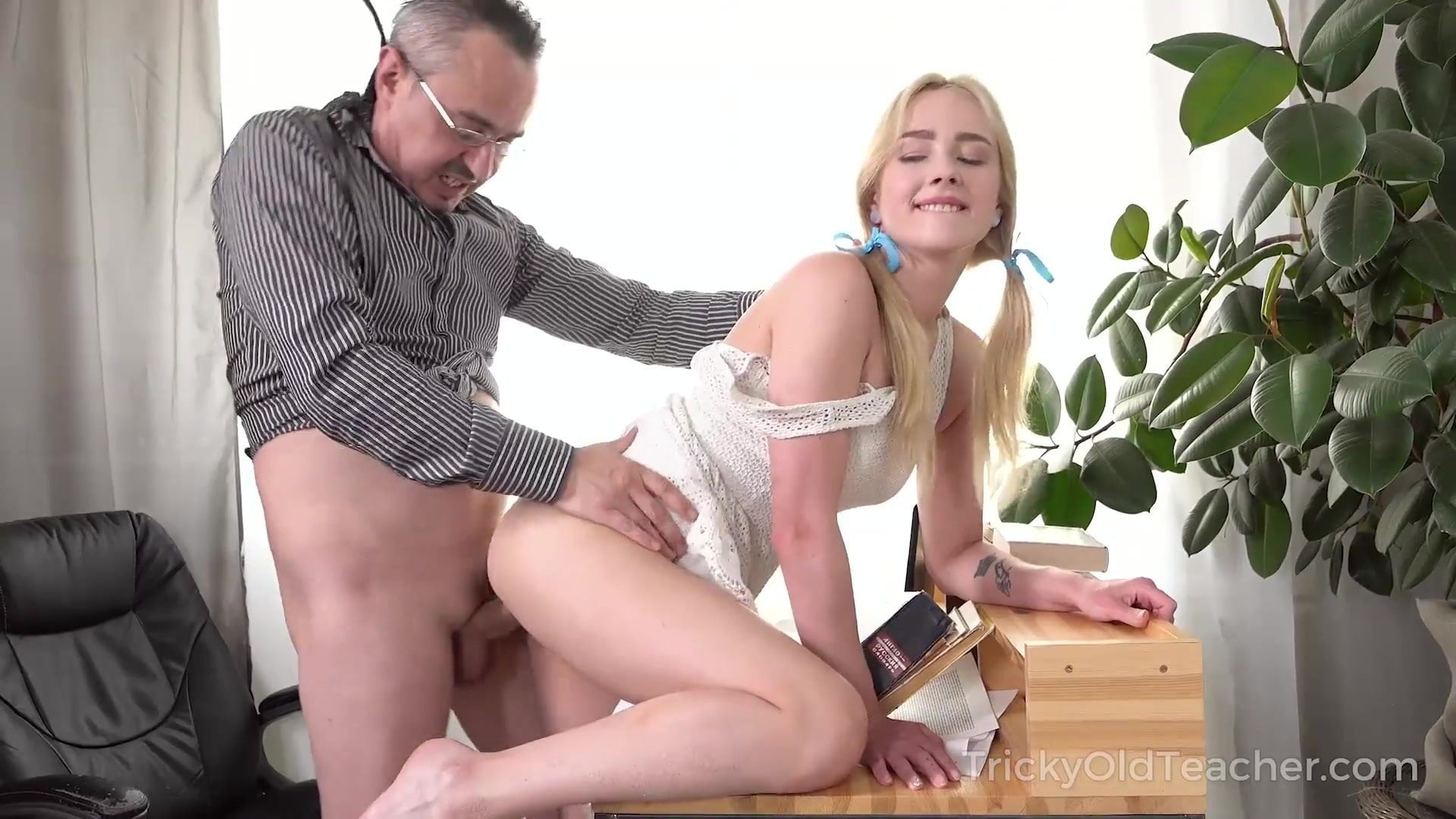 Blonde British Teen Old Man