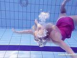Proklova takes off bikini and swims under water