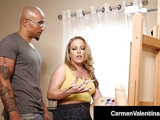 Dark Dicked Carmen Valentina – Cummed On By Big Black Cock!
