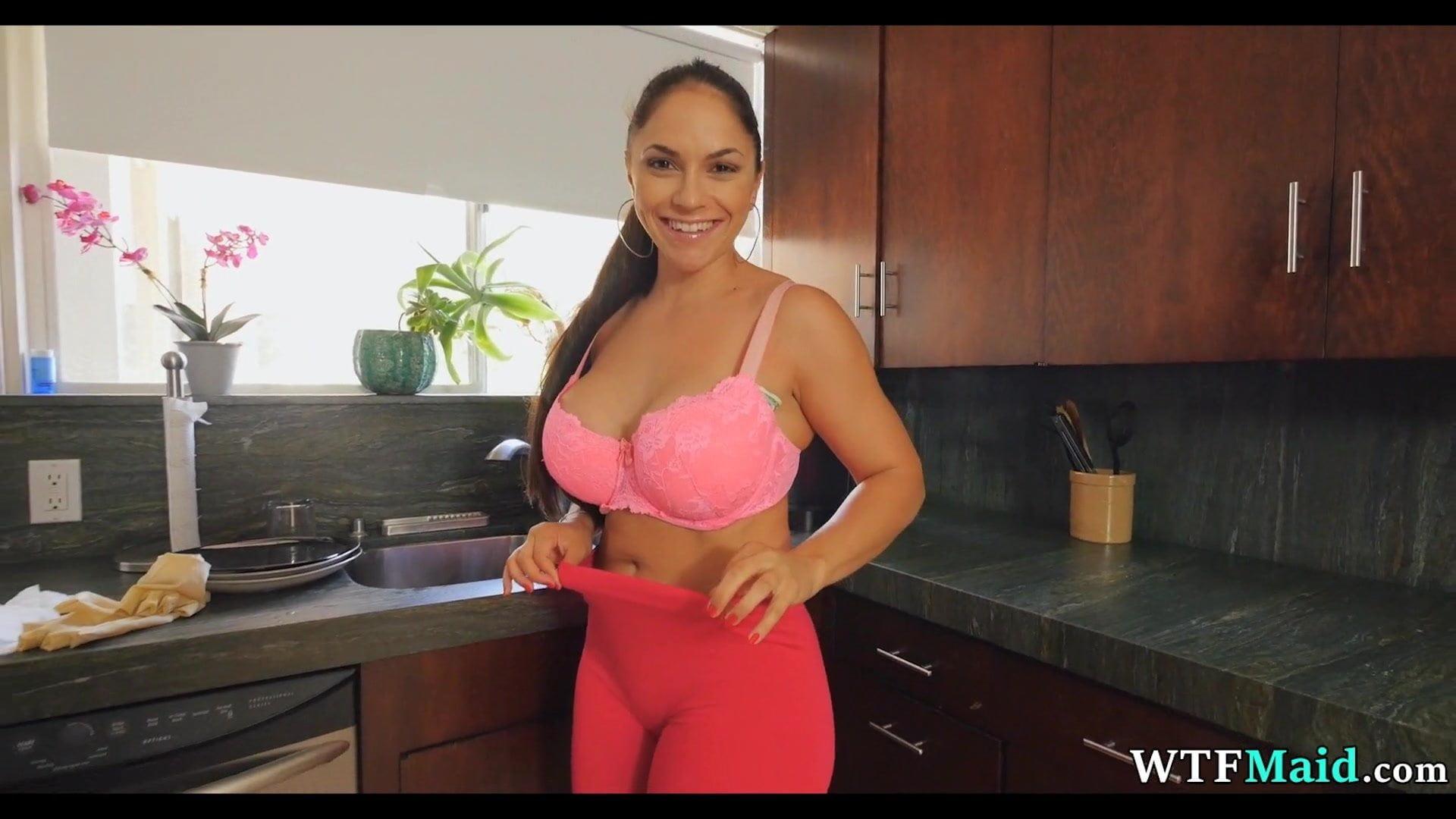 Big Ass Latina Fucks Dildo