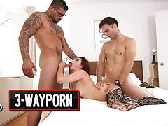3-Way Porn - Threesome for a Young Redhead