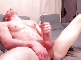 Hot Muscle Ginger Guy eats own cum
