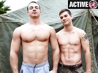 ActiveDuty – New Recruit Eager To Ride Officer's Big Dick