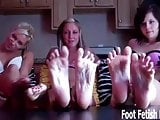 Would you massage our aching feet for us
