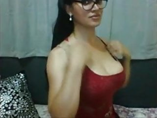 In glasses unloads on webcam...