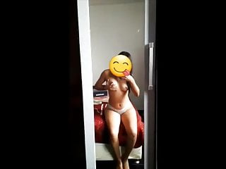 Younger whore presents her knockers on snapchat – naked selfie