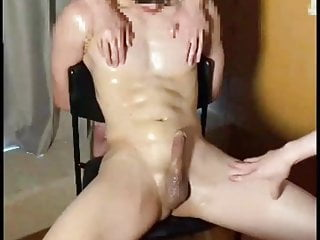 Gets a super edging session blindfolded and tied...