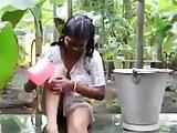 girl bath outdoor.mp4