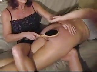 Fake tits shaved pussy