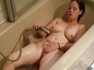 Thicc ghastly German BBW masturbates in bathtub! mega big ass and Jugs