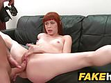 Fake Agent Creampie for new Redhead American model
