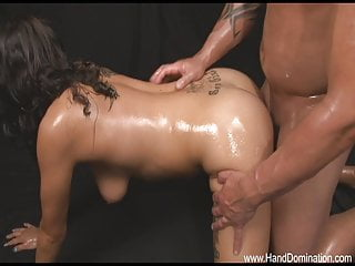 she gets pounded!